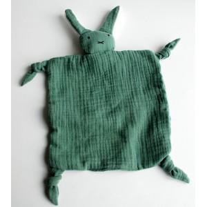 Knuffeldoekje konijn groen