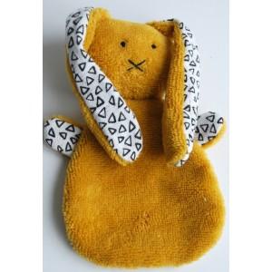 Knuffel konijn oker geel