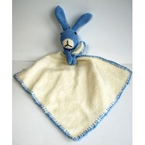 Knuffel konijn lichtblauw