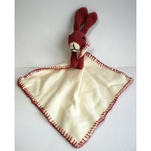 Knuffel konijn oud roze