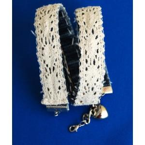 armband van spijkerstof